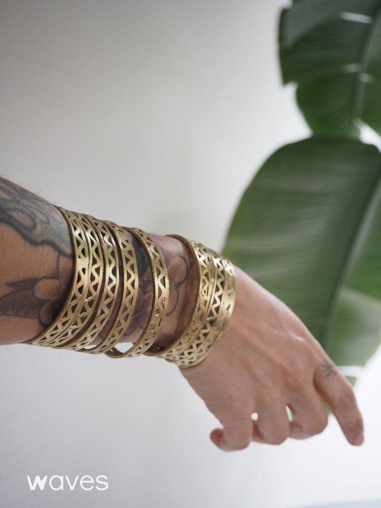 Hand-cast T'boli Brass Bracelet Sets
