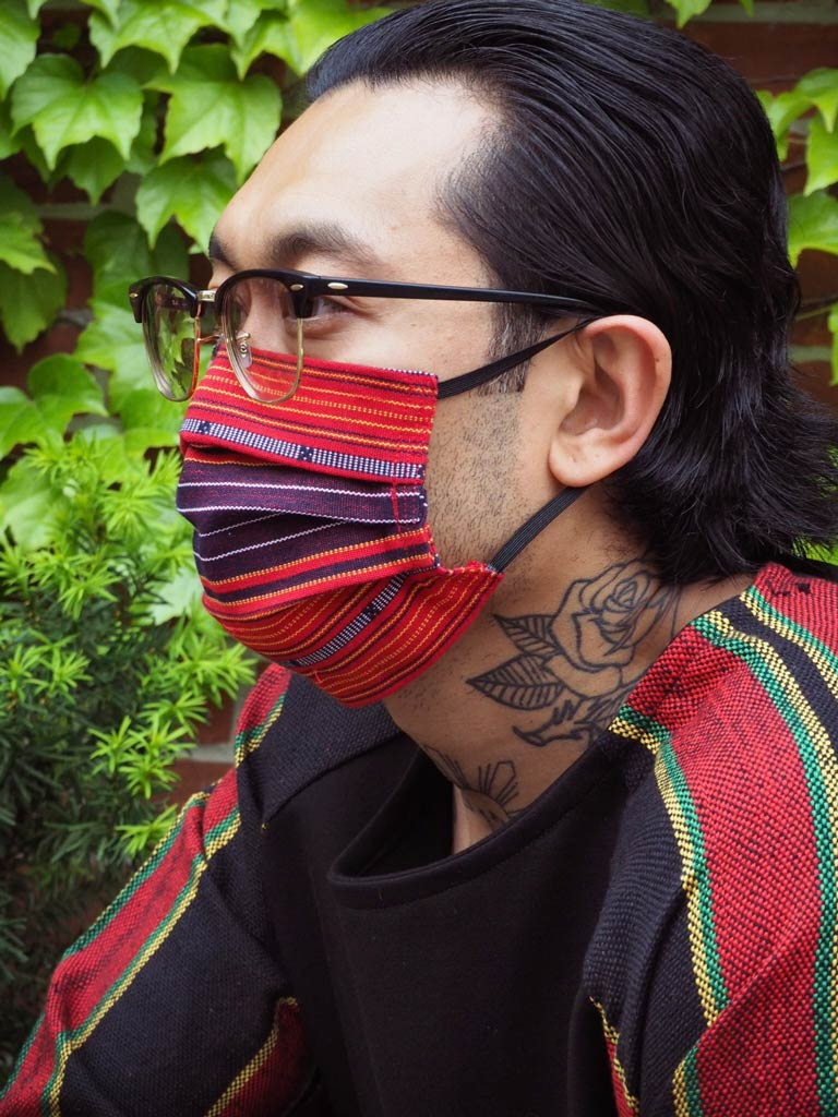 VINTA Handloomed Ifugao Face Mask in Red