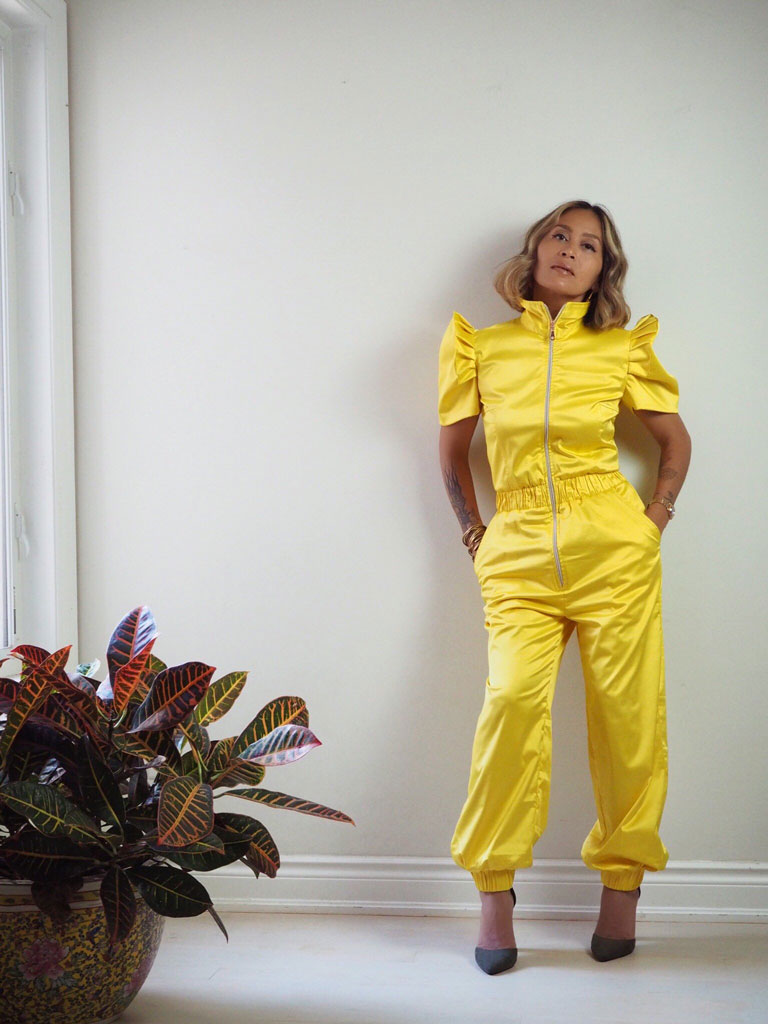 VINTA Terno Jumpsuit Dos in Yellow Front View