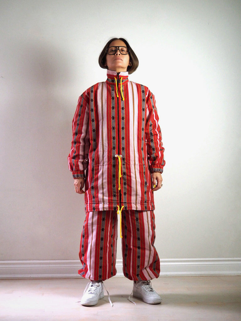 VINTA Unisex Ifugao Anorak Jacket - Front View, Zipped Up, Styled with Unisex Ifugao Track Pants