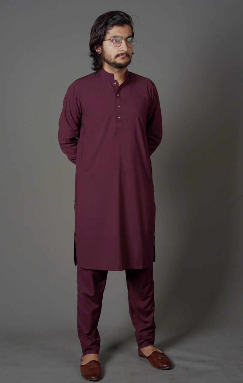 Wine Red - Sherwani (Men)