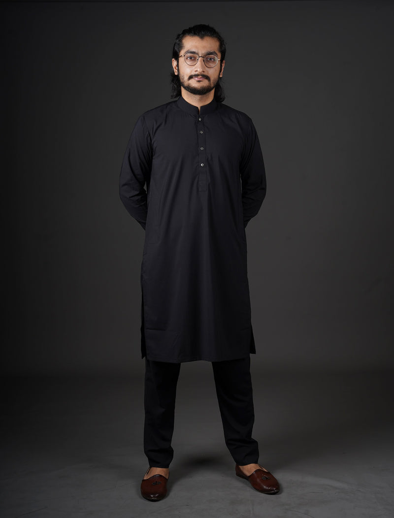 Jet Black - Sherwani (Men) - Manto