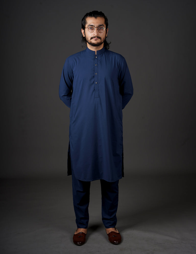 Midnight Blue - Sherwani (Men) - Manto