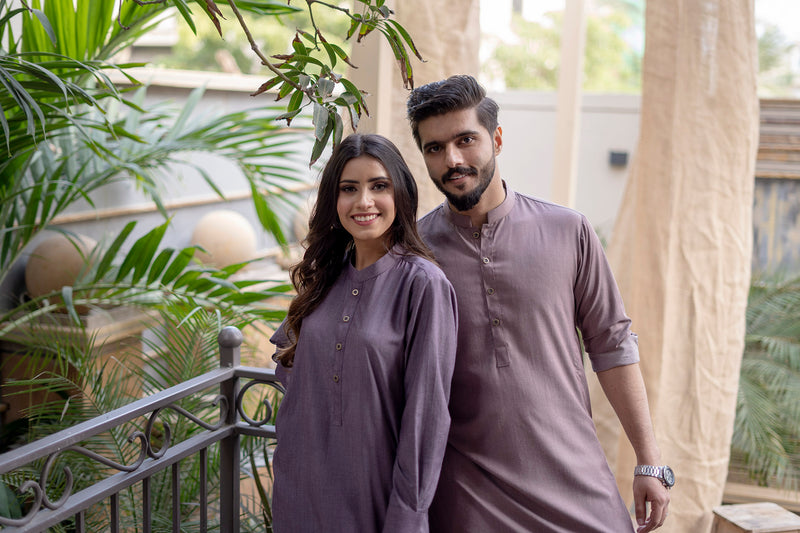 Dark Lilac Sherwani (Women)