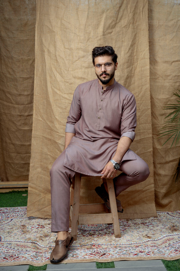Rustic Peach Sherwani (Men)