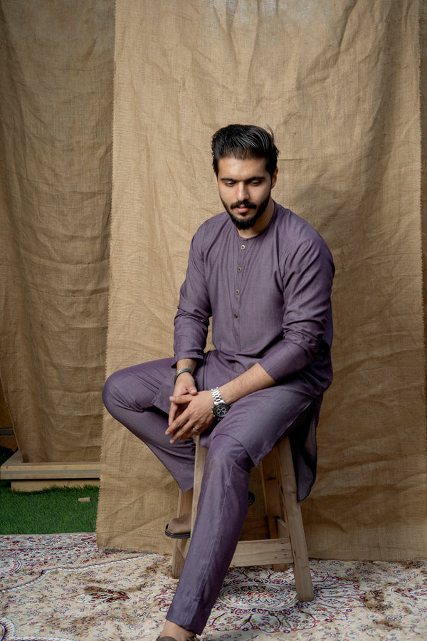 Dark Lilac Lucknow (Men)