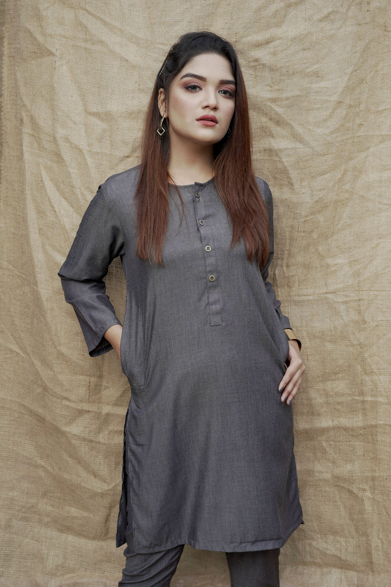 Charcoal Black Lucknow (Women)