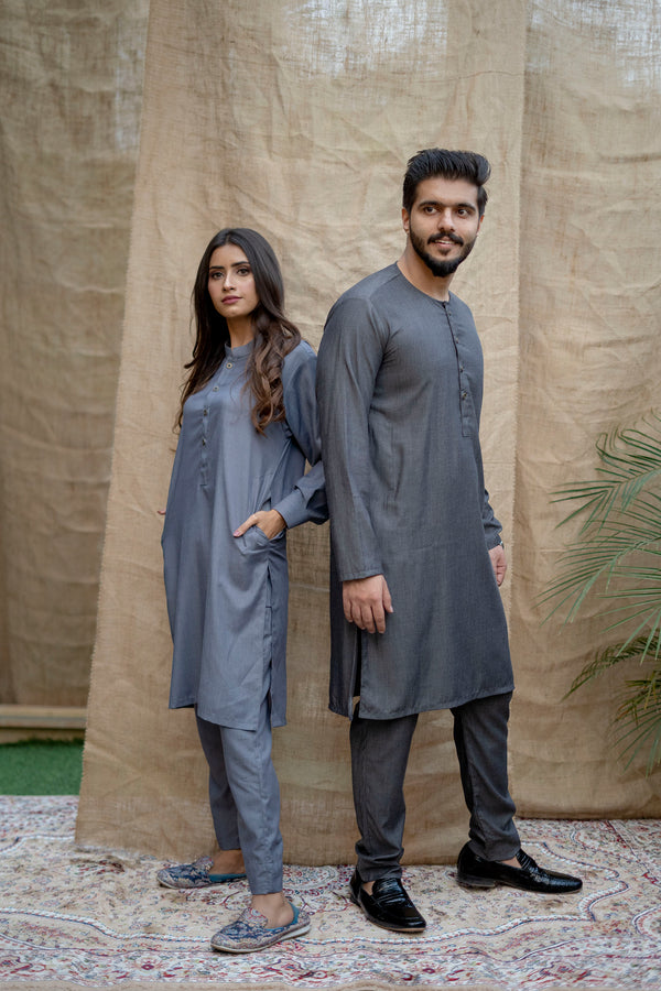 Charcoal Black Lucknow (Men)