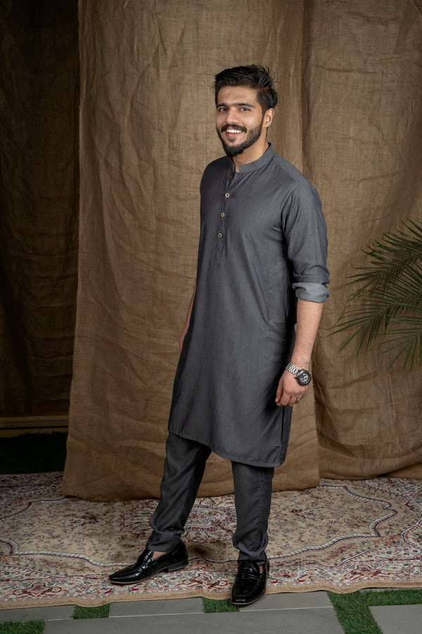 Charcoal Black Sherwani (Men)