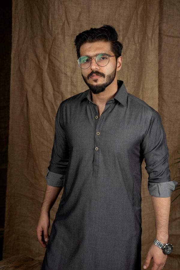 Charcoal Black Peshawar (Men)