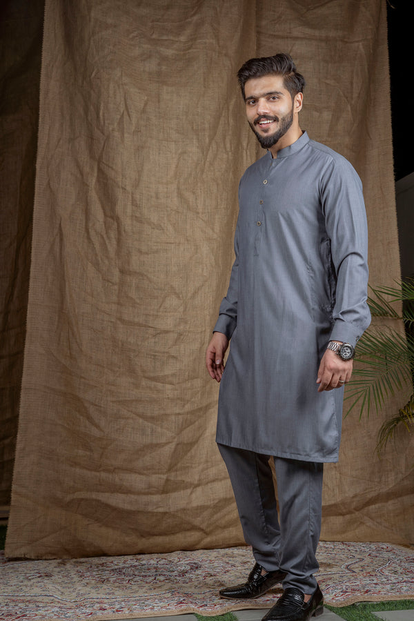 Ash Grey Sherwani (Men)