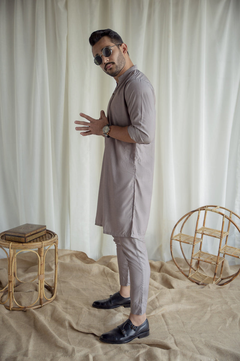 Rose Gray - Sherwani (Men) - Manto