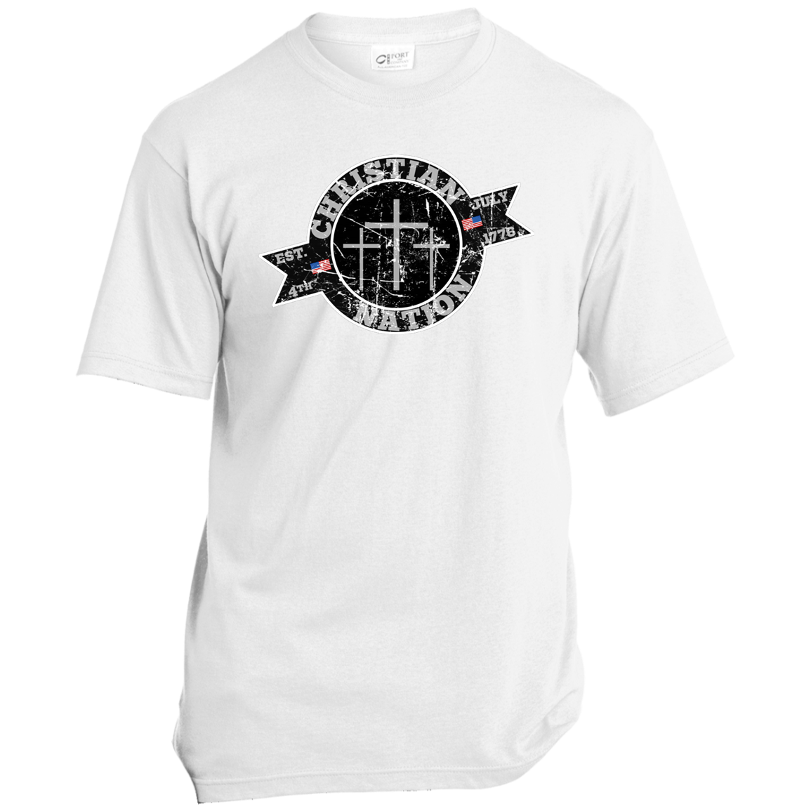 Christian Nation I Support Trump T Shirts