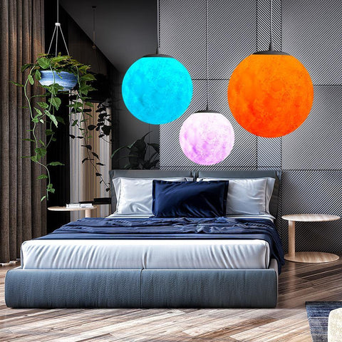 3D Moon Pendant Lights