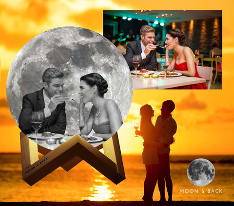 Personalize Photo Moon Lamp