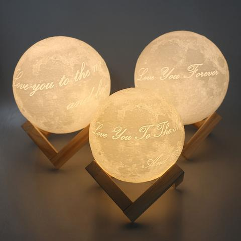 Love You to The Moon and Back Moon Lamp