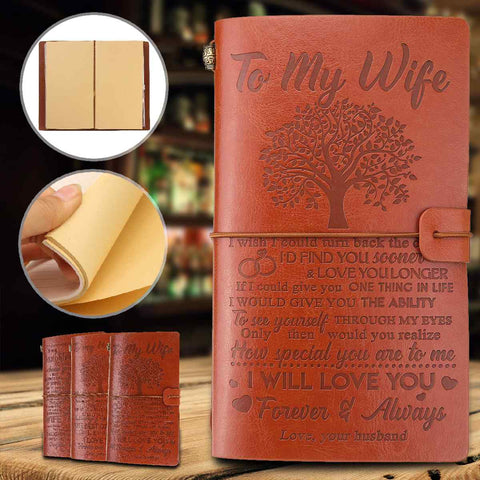 21 Types Engraved Leather Journal Notebo Diary To Daughter/Son/My Man/Wife/Mom/Dad/Grandson Engraved Notebo Diary 20x12cm|Notebooks| - AliExpress-Moon & Back