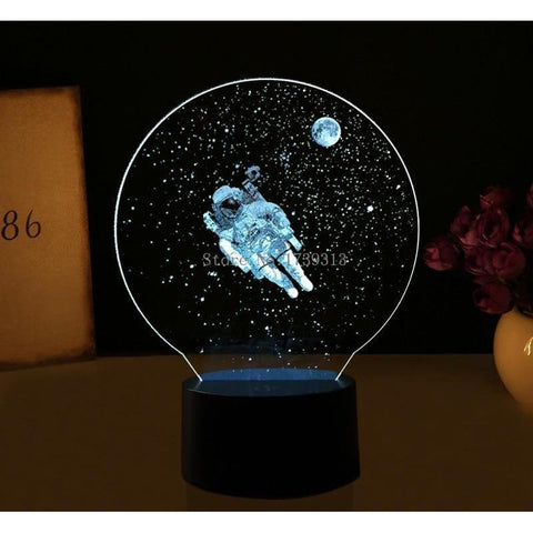 3D Astronaut LED USB Table Lamp-nasagiftshop-Moon & Back