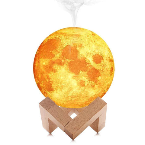 3D Moon Lamp Aroma Essential Oil Diffuser (880ml)-Moon & Back-3D Moon Lamp Humidifier-Moon & Back