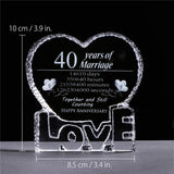 40th Anniversary Crystal Ornament-Moon & Back-Moon & Back