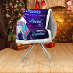 Granddaughter Unicorn Blanket, Unicorn Blanket, Gift for Granddaughter-Moon & Back