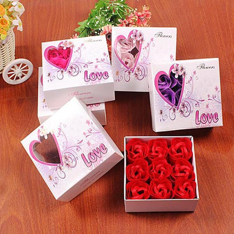 9pcs Rose Soap Simulation Flower-Moon & Back-1-Moon & Back