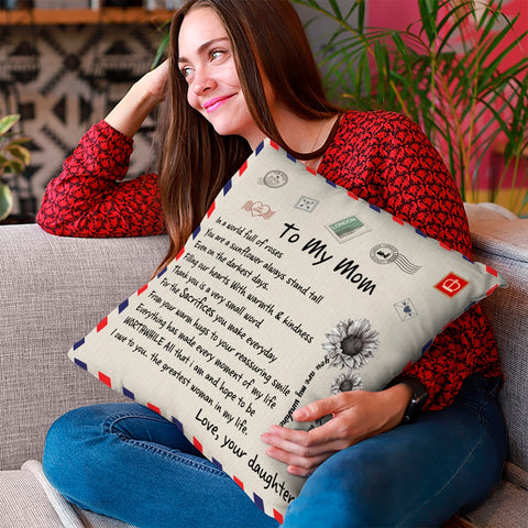 Special Letter Pillow Case - For Mom, Wife, Dad, Nana, Papa, Kids, BFF-Moon & Back