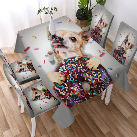 Cute Dog Style Tablecloth, Tablecover For Dog Lovers-Moon & Back