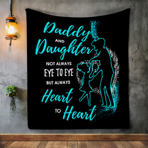 Dad & Daughter Blanket, Blanket for Dad, Blankets for Fathers-Moon & Back