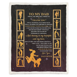 Daughter to Dad Blanket, Blanket for Dad, Blankets for Fathers-Moon & Back