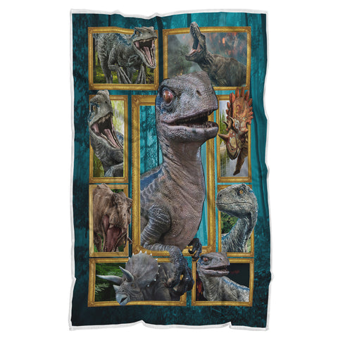 Dinosaur Blanket, T-Rex Blanket, Jurassic World Blanket-Moon & Back
