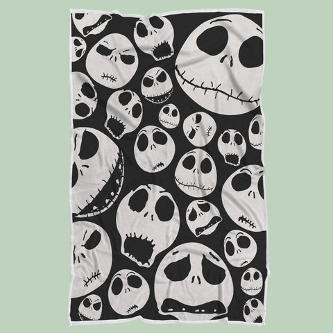 Jack Skellington Blanket Gift, Halloween Manga Blanket-Moon & Back