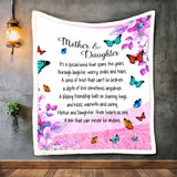 Mother And Daughter Blanket, Gift For Mom, Pink Floral Mom Blankets-Moon & Back