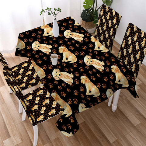 Pet Dog Decorative Tablecover, Tablecloth For Dog Lovers-Moon & Back