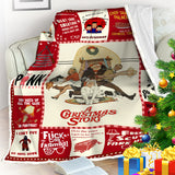 A Christmas Story Blanket, Movie Lovers Christmas Gift,Pink Nightmare-Moon & Back