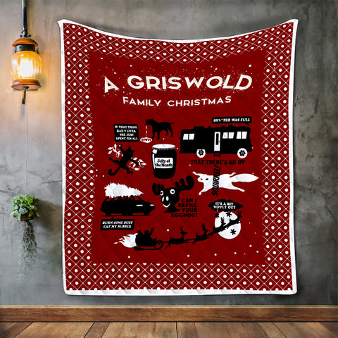 A Griswold Family Christmas Blanket, Xmas Gift For Families-Moon & Back