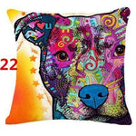 Abstract Dog Painted Style Pillow Cover-Moon & Back-22-Moon & Back