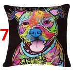 Abstract Dog Painted Style Pillow Cover-Moon & Back-7-Moon & Back