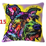 Abstract Dog Painted Style Pillow Cover-Moon & Back-15-Moon & Back