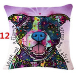 Abstract Dog Painted Style Pillow Cover-Moon & Back-12-Moon & Back