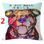 Abstract Dog Painted Style Pillow Cover-Moon & Back-2-Moon & Back