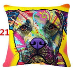 Abstract Dog Painted Style Pillow Cover-Moon & Back-21-Moon & Back