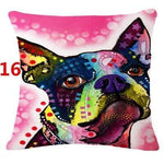 Abstract Dog Painted Style Pillow Cover-Moon & Back-16-Moon & Back