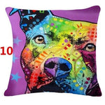 Abstract Dog Painted Style Pillow Cover-Moon & Back-10-Moon & Back