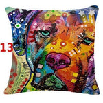 Abstract Dog Painted Style Pillow Cover-Moon & Back-13-Moon & Back