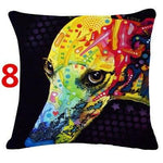 Abstract Dog Painted Style Pillow Cover-Moon & Back-8-Moon & Back