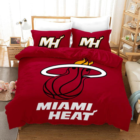 Basketball Club Sport Bedding Set, Miami Heat Lovers-Moon & Back