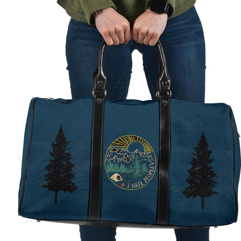 Bear Pattern Outdoor Travel Bag, Camping Lovers Gift-Moon & Back