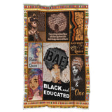 Black And Educated Blanket,Gift For Black Girls,Black Lives Matter,Black Identity-VK1034-Moon & Back