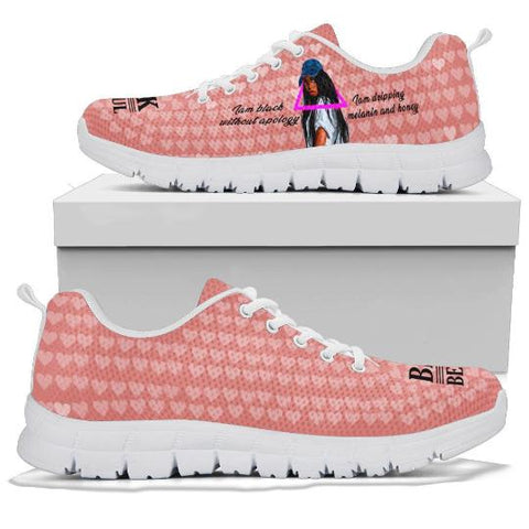 Black Girl Melanin Sneaker, Gifts for Black Girls-Moon & Back